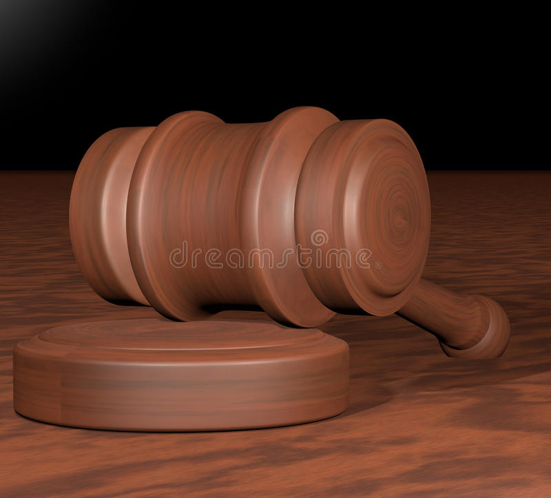 Download Judge gavel stock illustration. Image of juridical, suit - 37961624