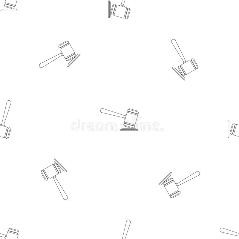 Judge gavel pattern seamless vector royalty free illustration