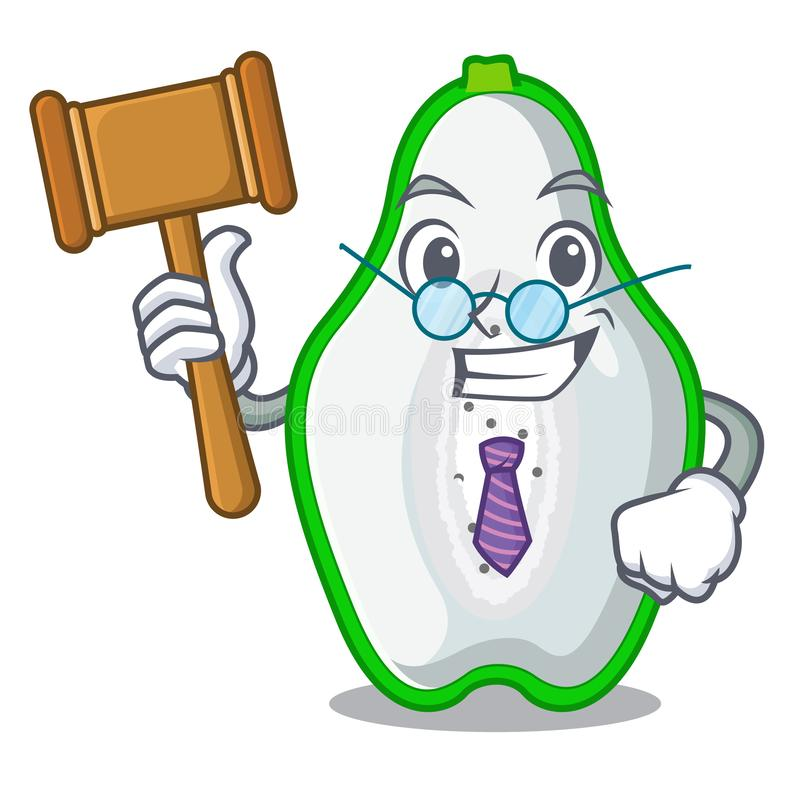 Judge green papaya in the cartoon form vector illustration