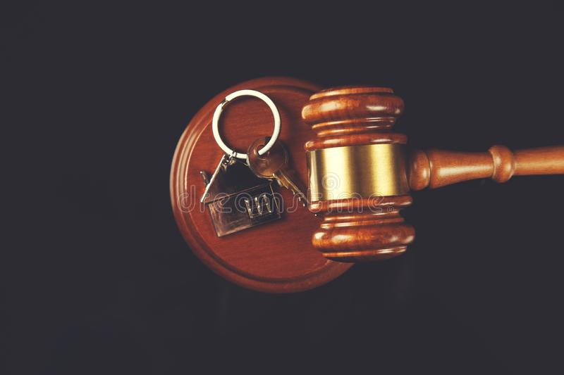 Judge with house key royalty free stock photos
