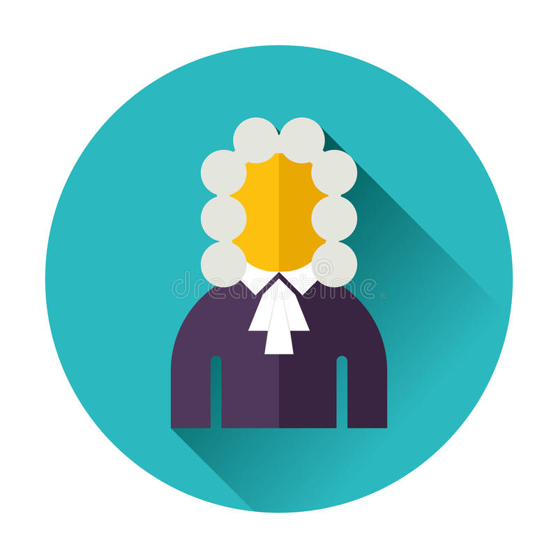 Judge icon. Ftat icon isolated vector flat vector illustration