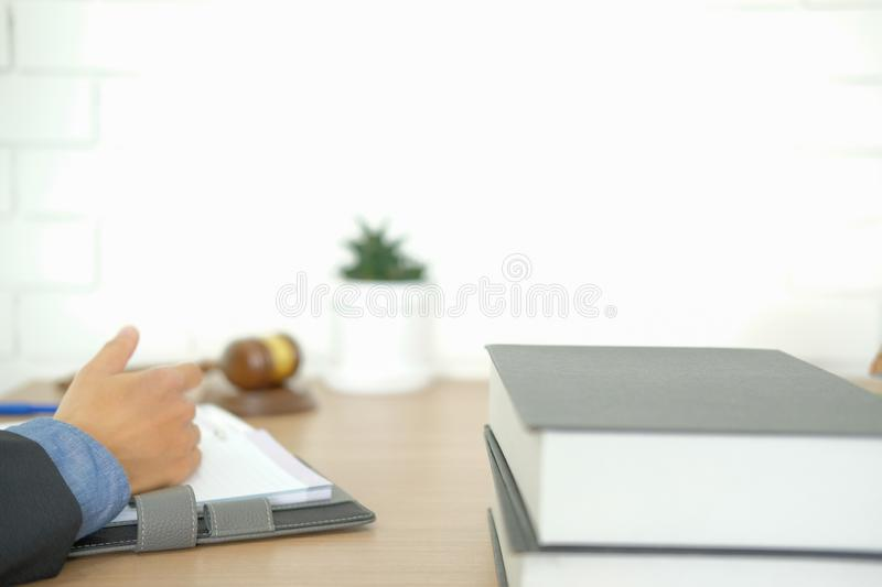 Judge lawyer attorney justice working at court. legal law gavel. Lawyer judge attorney justice working at court. legal law gavel at courtroom royalty free stock photo