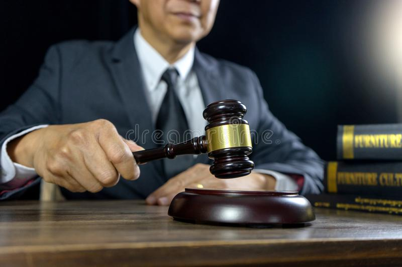 Judge lawyer gavel work in office stock photos