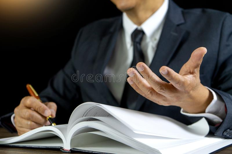 Judge lawyer gavel work in office royalty free stock image