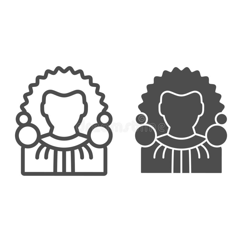 Judge line and glyph icon. Chief justice vector illustration isolated on white. Court outline style design, designed for. Web and app. Eps 10 vector illustration
