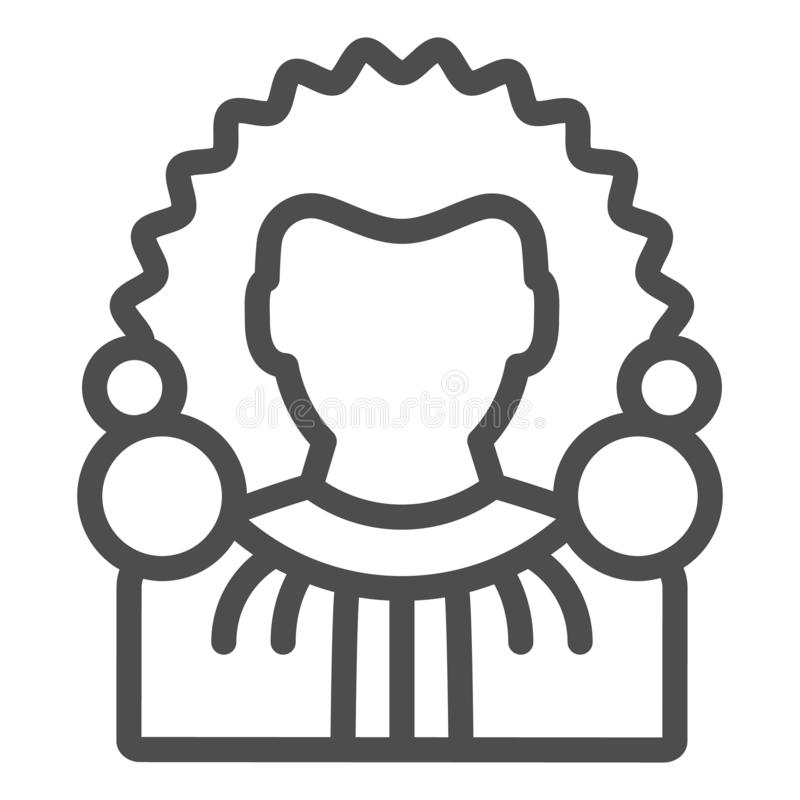Judge line icon. Chief justice vector illustration isolated on white. Court outline style design, designed for web and. App. Eps 10 royalty free illustration
