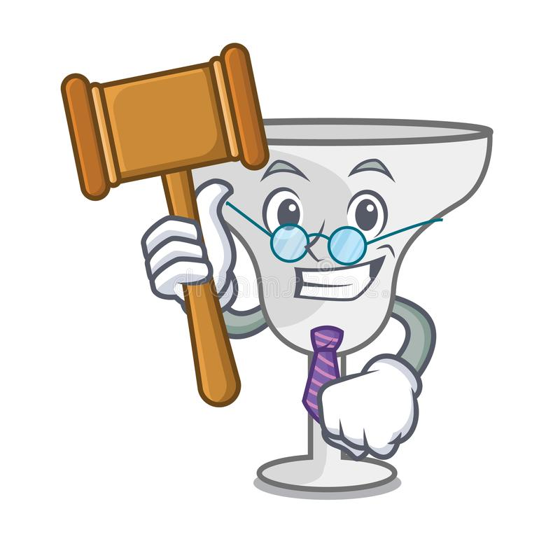 Judge margarita glass mascot cartoon. Vector illustration royalty free illustration