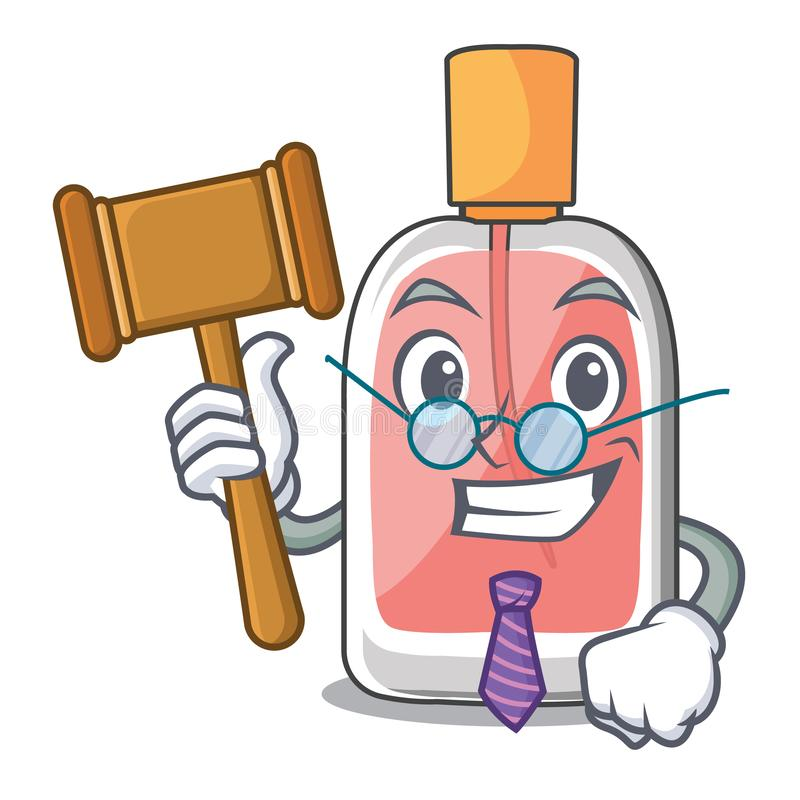 Judge perfume bottle isolated in the mascot vector illustration