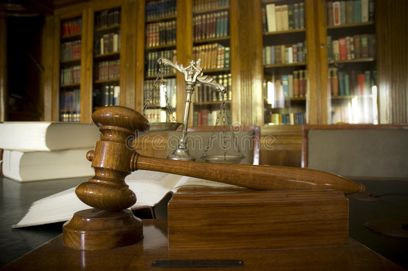 Judges gavel royalty free stock images