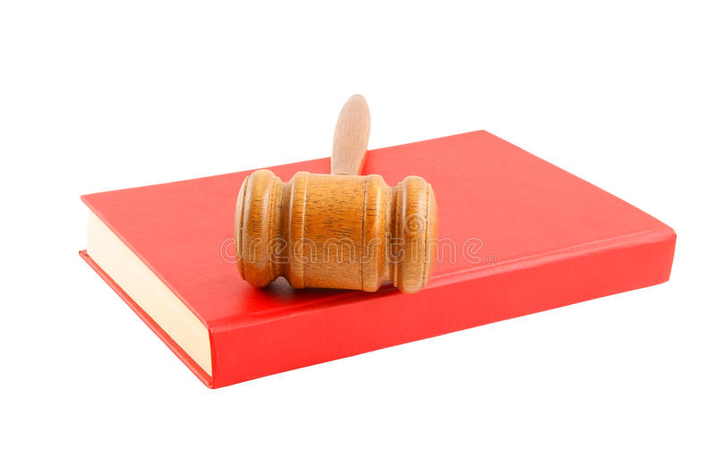 Download Judge's Gavel On Red Legal Book Isolated Stock Image - Image: 14325453