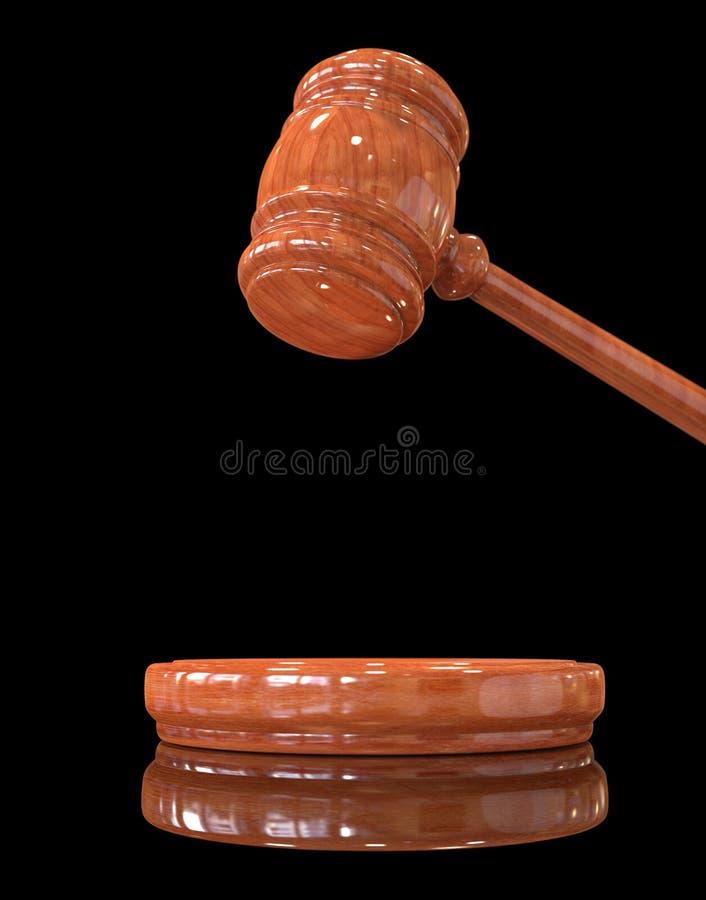 Judge's gavel up royalty free stock photos