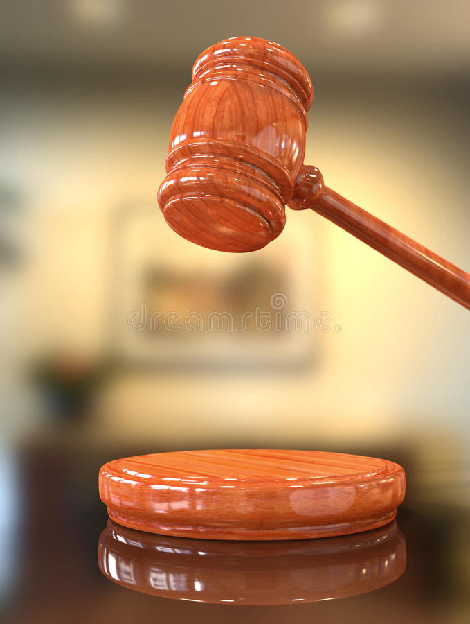 Judge's gavel up royalty free stock images