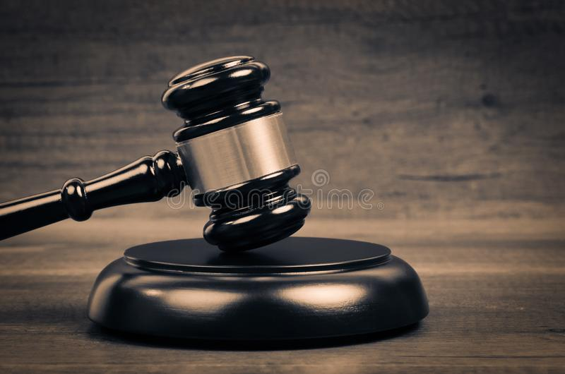 Judge Law And Justice Symbol. stock photo