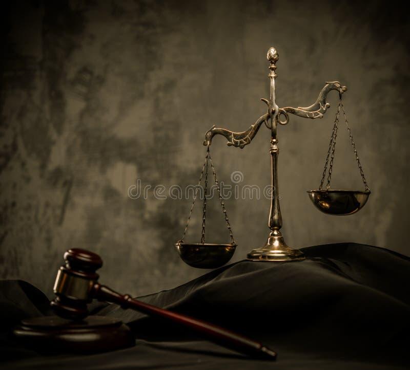 Judge's mantle still-life royalty free stock image