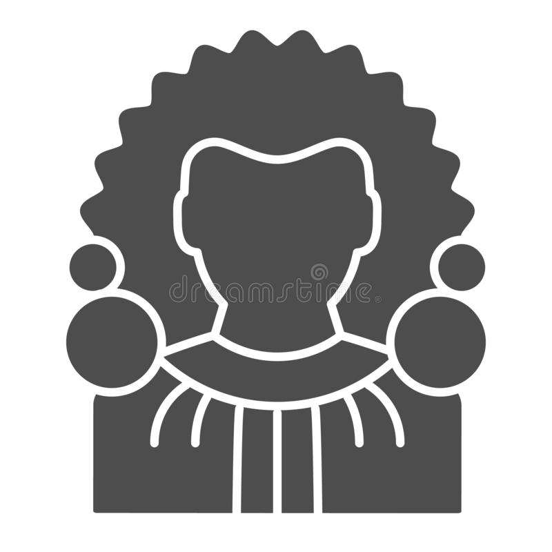 Judge solid icon. Chief justice vector illustration isolated on white. Court glyph style design, designed for web and. App. Eps 10 stock illustration