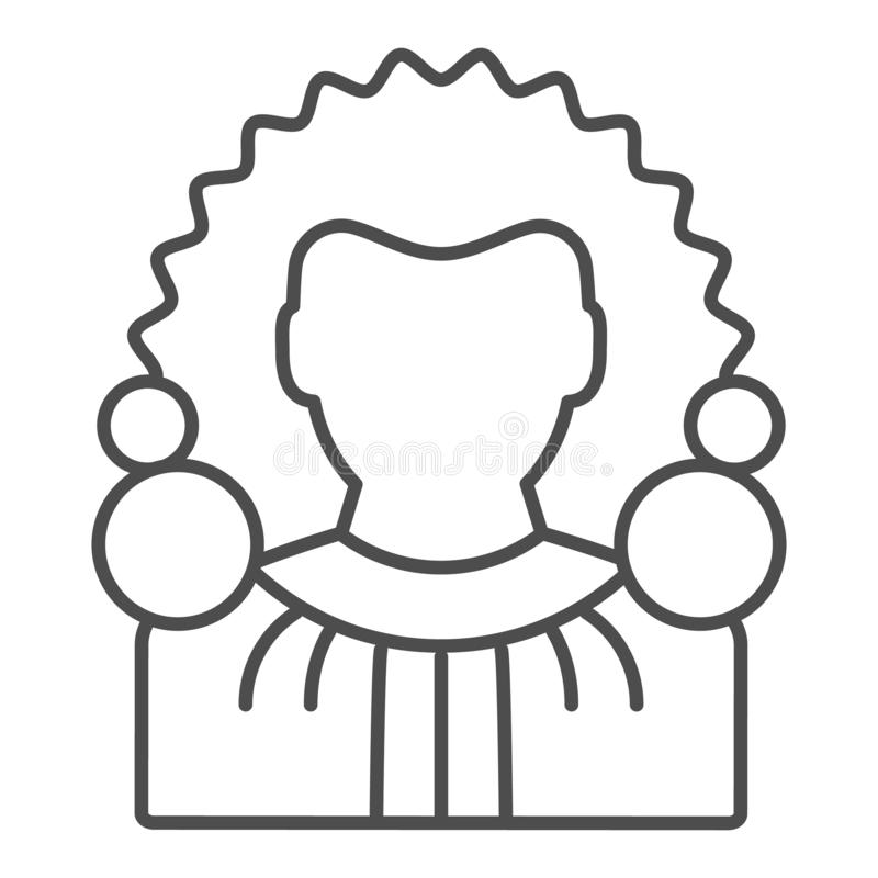 Judge thin line icon. Chief justice vector illustration isolated on white. Court outline style design, designed for web. And app. Eps 10 stock illustration