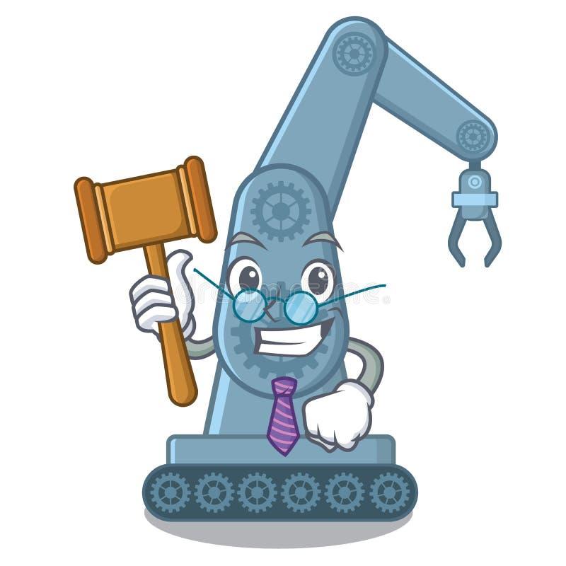 Judge toy mechatronic robot arm cartoon shape stock illustration