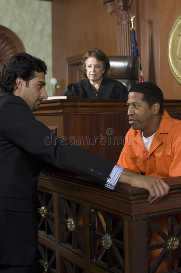 Judge Watching Prosecution In Court stock photos