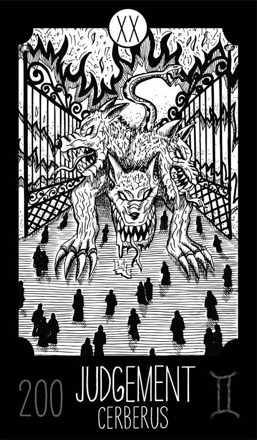 Judgement  Major Arcana Tarot Card Stock Illustration - Illustration