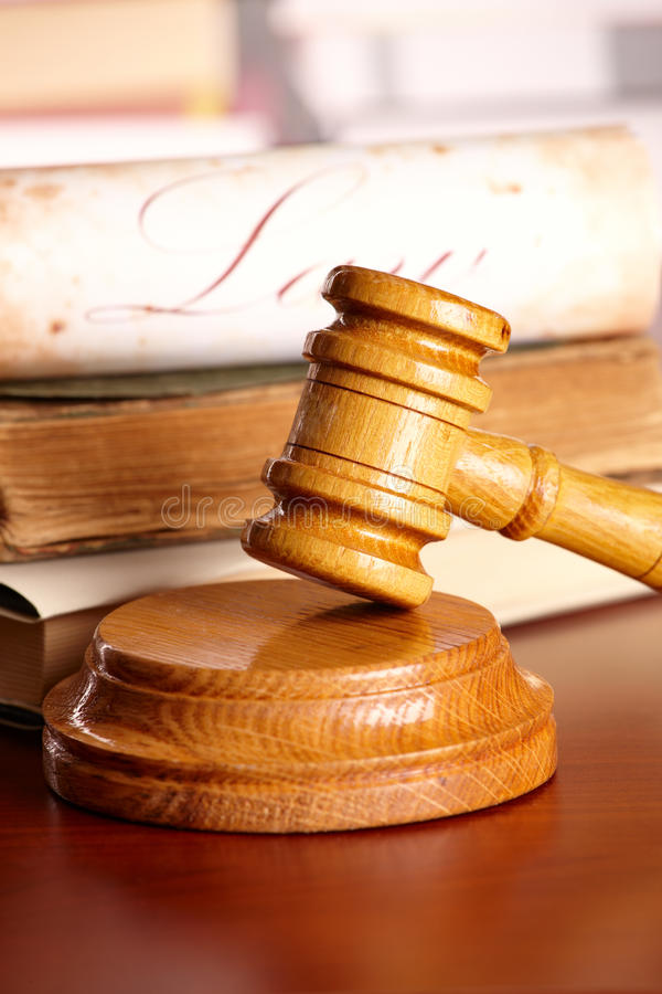 Free Judges Gavel With Very Old Books Royalty Free Stock Photos - 13078158