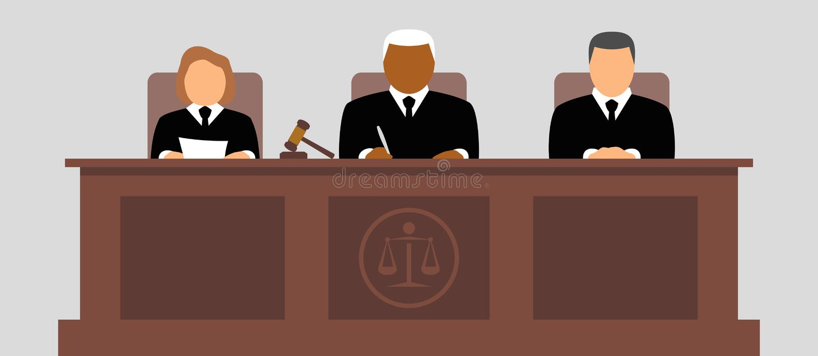 Judges icon. Judges in court vector icon vector illustration