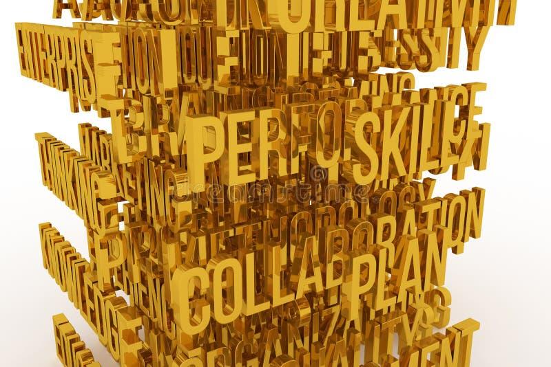 Judgment, business conceptual golden 3D rendered words. Digital, background, backdrop & rendering. Judgment, business conceptual golden 3D rendered words. Good royalty free illustration