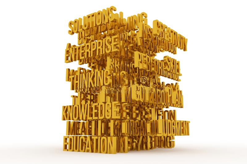 Judgment, Education, business conceptual golden 3D rendered words. Graphic, message, digital & text. Judgment, Education, business conceptual golden 3D rendered vector illustration