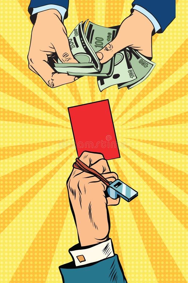 Judicial bribery, violations of the sport. Doping and unsportsmanlike behavior pop art retro vector vector illustration