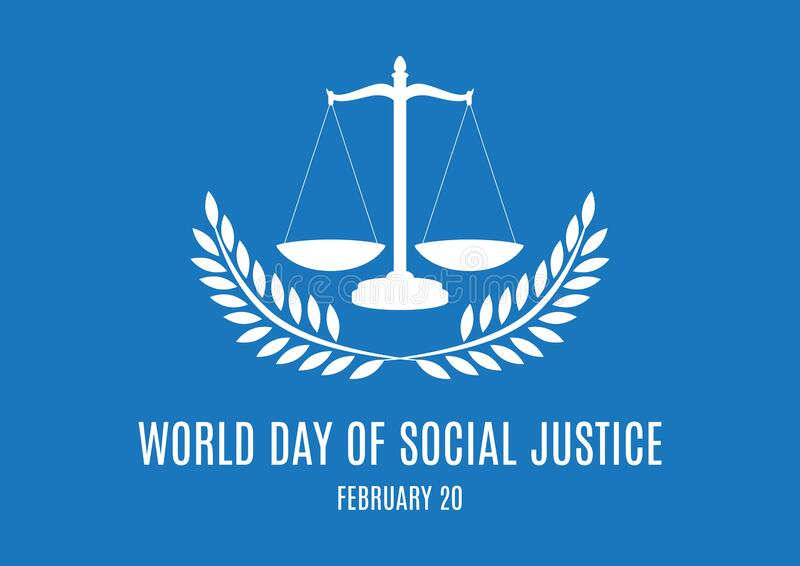 World Day of Social Justice vector stock photography