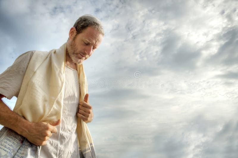judisk bön royaltyfri foto