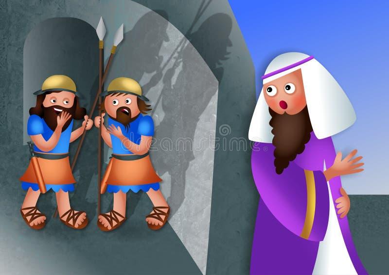 Judisk festmåltid av Purim stock illustrationer
