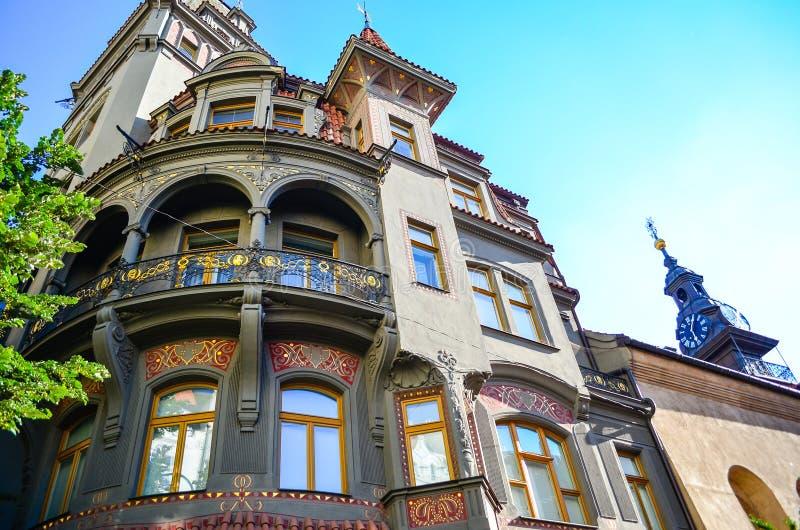 Judisk fjärdedel i Prague royaltyfria bilder
