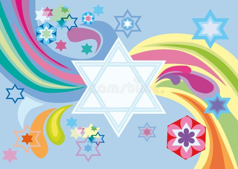judisk glad ferie för bakgrund till royaltyfri illustrationer