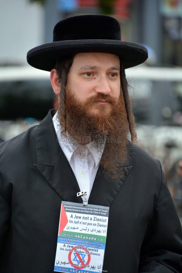 Judisk Hasidic ortodox royaltyfri foto
