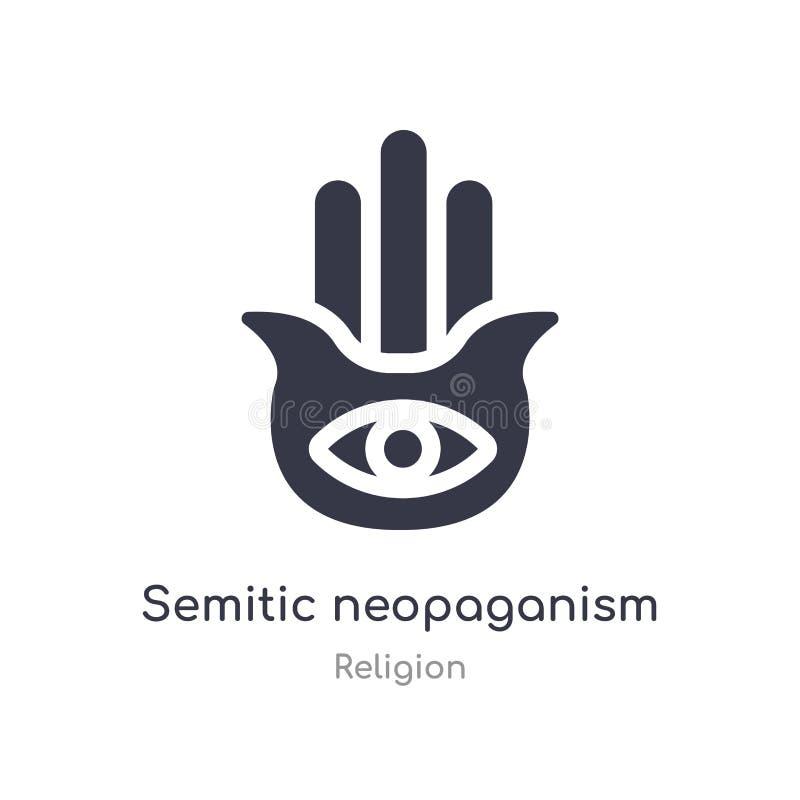 Judisk Neopaganism symbol isolerad semitic illustration för neopaganismsymbolsvektor från religionsamling redigerbart sjunga symb vektor illustrationer