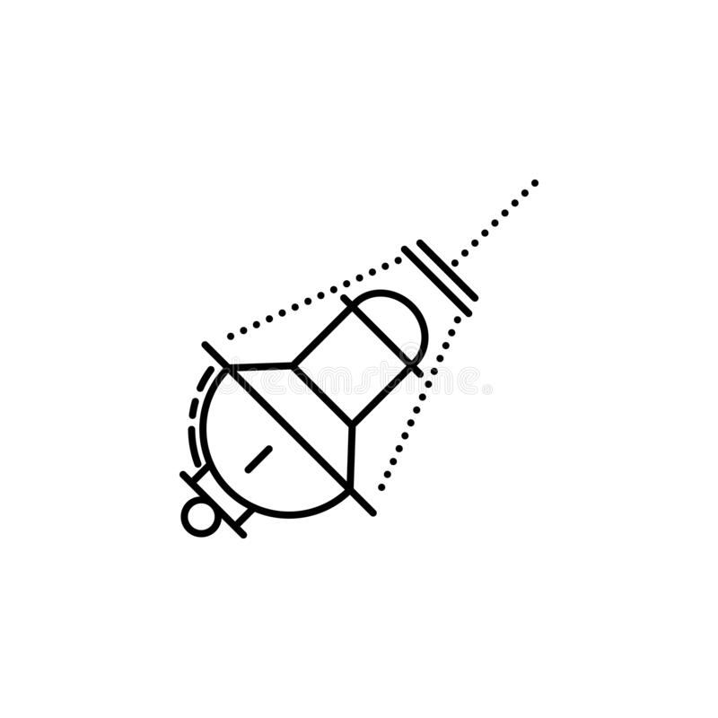 Judisk rökelsesymbol Beståndsdel av den judiska symbolen för mobila begrepps- och rengöringsdukapps Den tunna linjen judisk rökel royaltyfri illustrationer