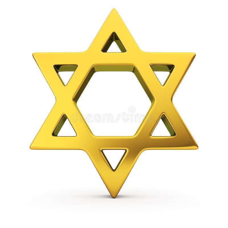 Judisk stjärna royaltyfri illustrationer