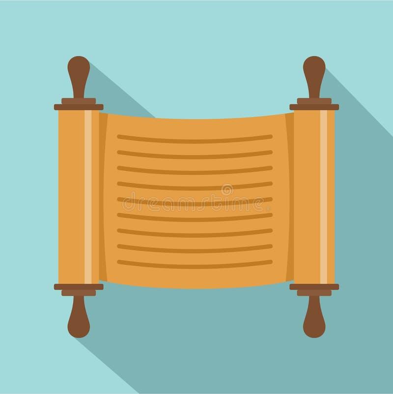 Judisk symbol för pappers- rulle, lägenhetstil stock illustrationer
