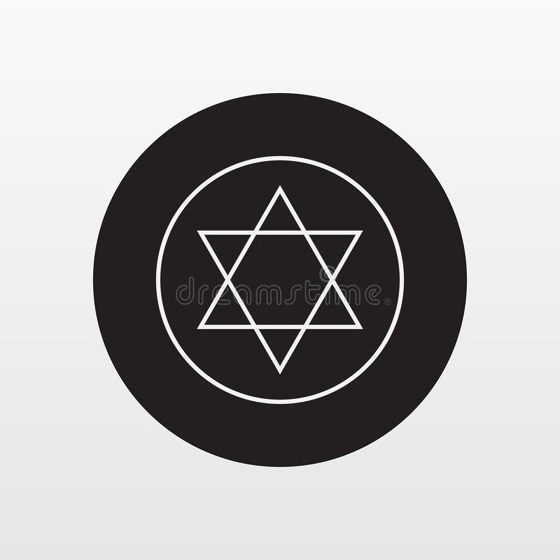 Judisk vektor för stjärnaplattasymbol Plant symbol som isoleras på vit bakgrund Moderiktigt internetbegrepp Mo vektor illustrationer