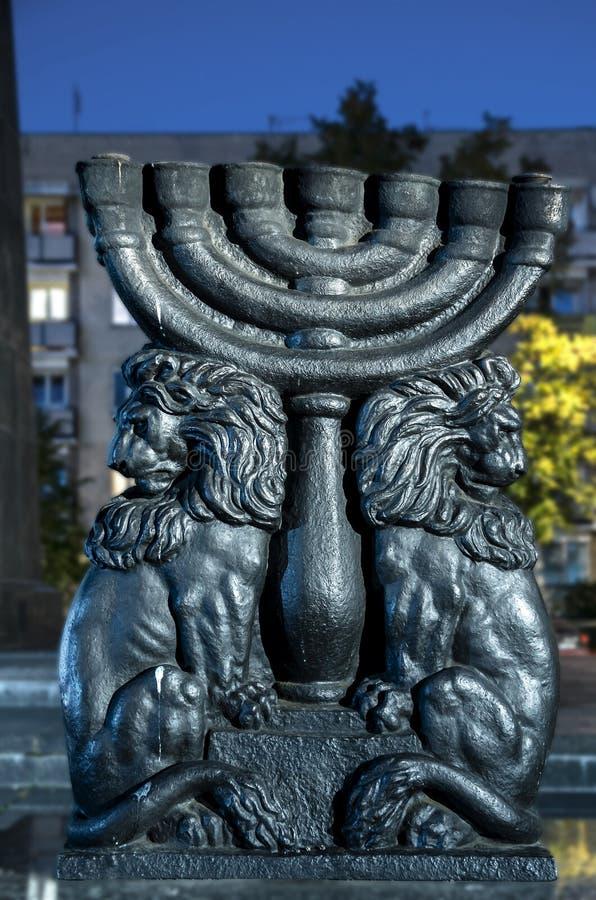 Judisk Warszawa, monument till gettohjältarna fotografering för bildbyråer