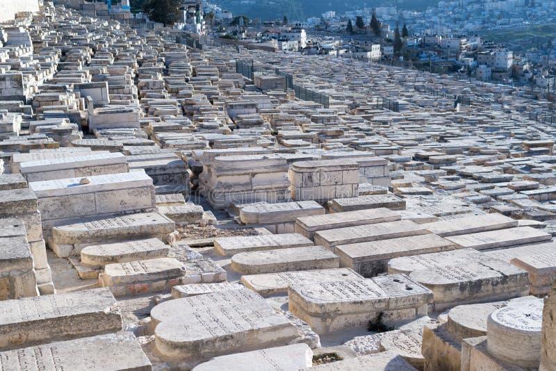 judiska monteringsolivgrön för kyrkogård royaltyfria bilder