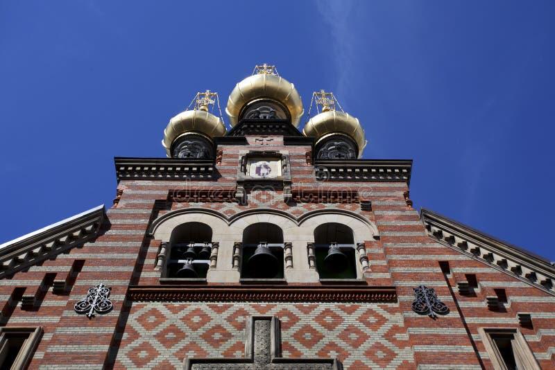 Judiskt tempel i Köpenhamnen - Danmark fotografering för bildbyråer