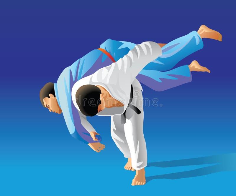 judo иллюстрация штока