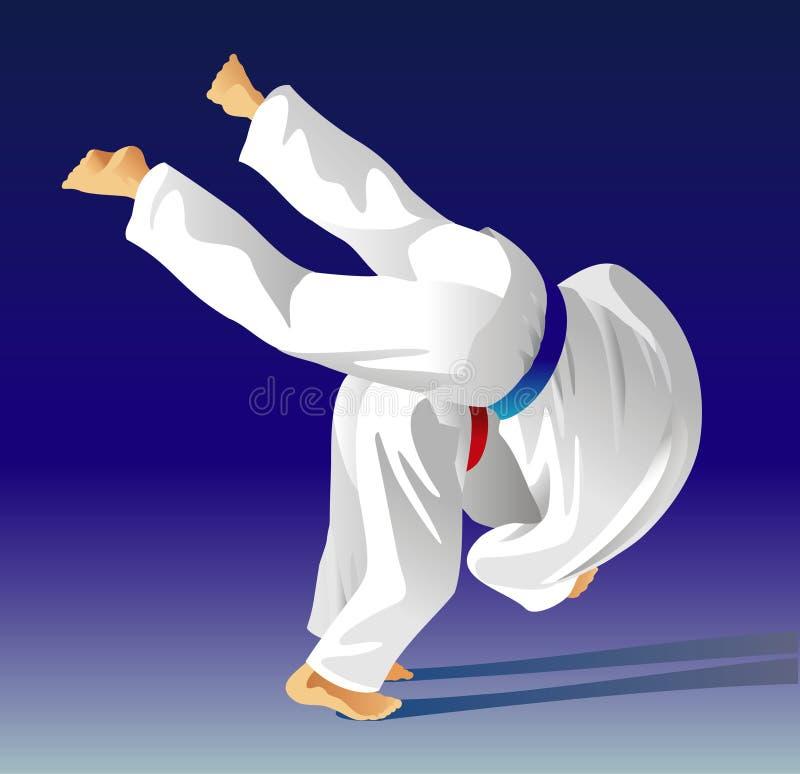 Judo royalty illustrazione gratis