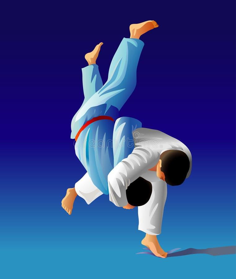 Judo illustration stock