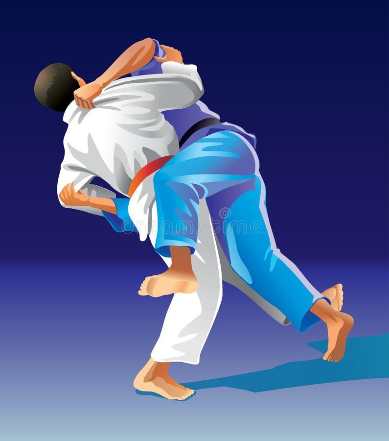 judo stock abbildung