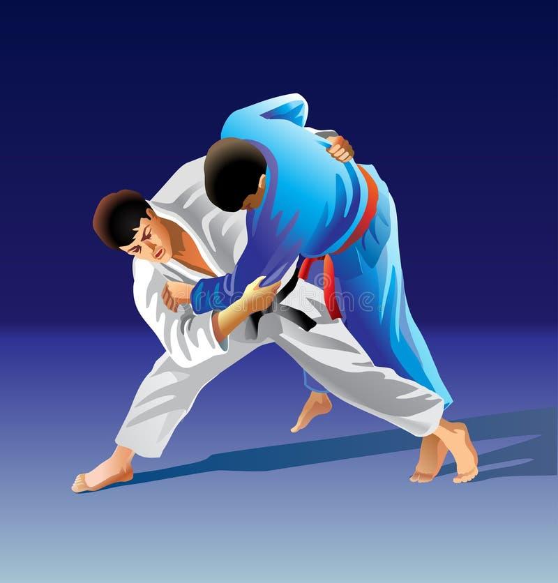 judo lizenzfreie abbildung