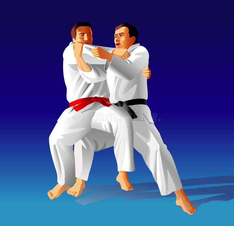 Judo vektor abbildung