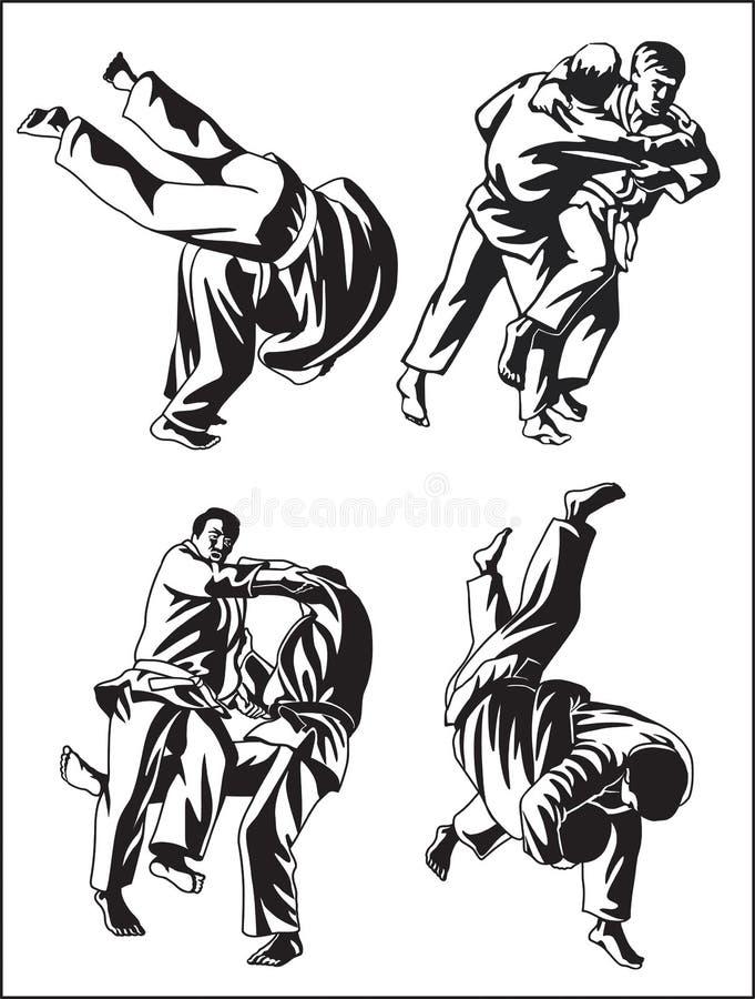 Judo_collection ilustração do vetor