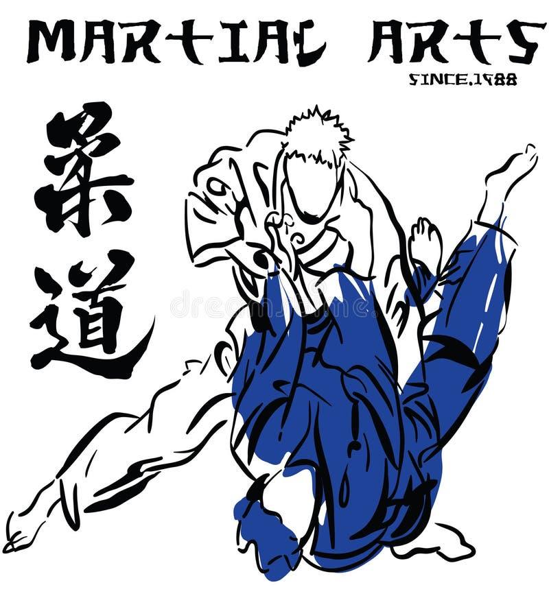 Judo d 39 arts martiaux illustration de vecteur illustration for Art martiaux